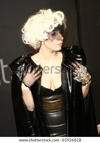 BERLIN - SEPTEMBER 07: Lady Gaga attends the Monster Cable Party at the Tube Club. September 7, 2009 in Berlin, Germany - stock photo