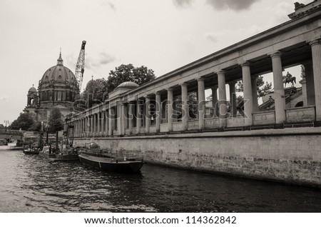 Berlin Spree River and Landmarks, Germany - stock photo