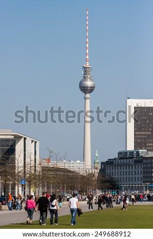 Berlin TV Tower - stock photo
