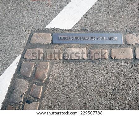 Berlin wall - stock photo