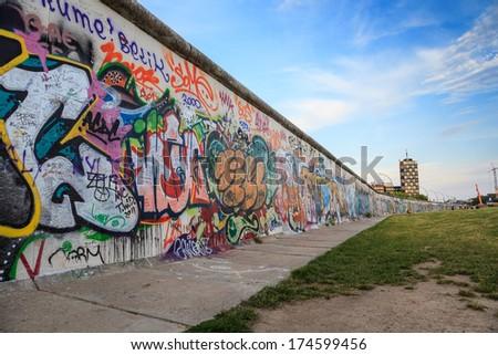 Berlin Wall, Berlin Germany - stock photo
