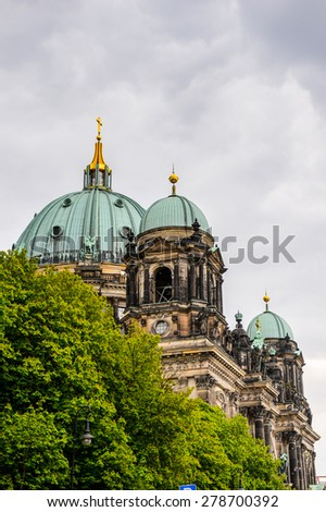 Berliner Dom cathedral church in Berlin, Germany. - stock photo