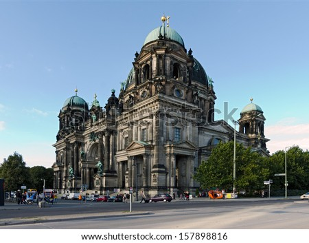 Berliner dom, historical building in the capital city of Germany - stock photo