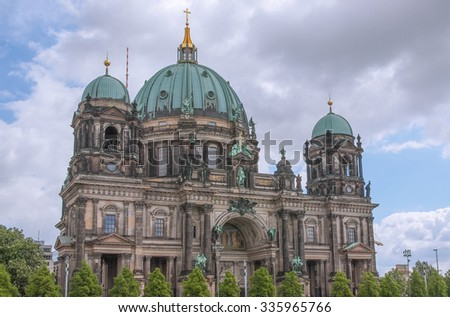 Berliner Dom meaning Berlin Cathedral church in Berlin, Germany