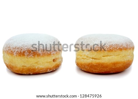 Berliner isolated on white background. - stock photo