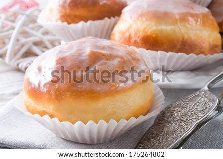 berliner pastries - stock photo