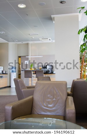 BERLING, GERMANY - APRIL 20: Business lounge at the Berlin Tegel international airport on April 20, 2014. Tegel is one of two Berlin aiports besides Schonefeld.
