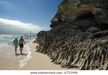 Bermuda Beach Senior Health and Fitness - stock photo