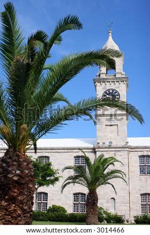 Bermuda Clock Tower - stock photo