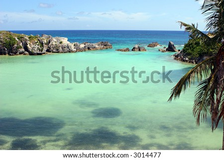 Bermuda Lagoon - stock photo