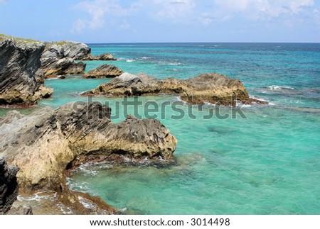 Bermuda Ocean View - stock photo
