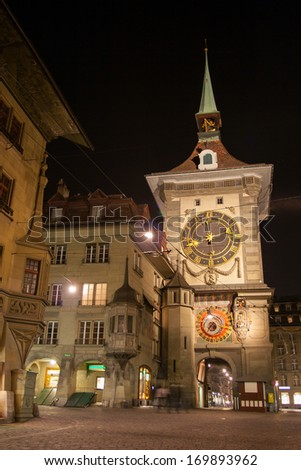 Bern's clock - stock photo