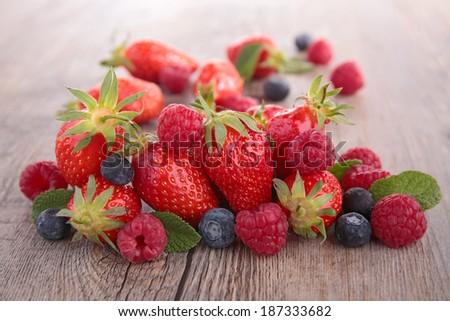 berries fruits - stock photo