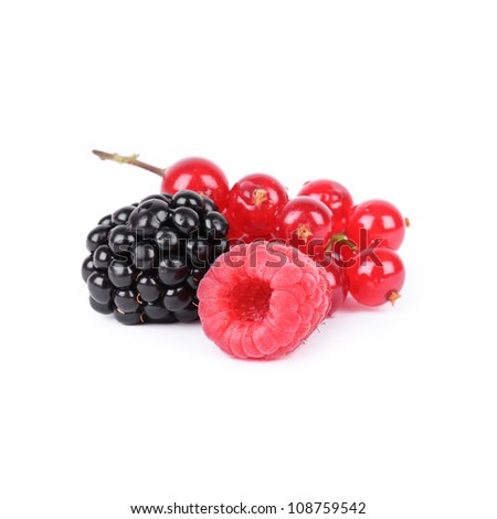 Berries isolated on white - stock photo