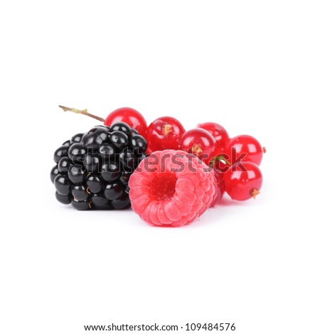 Berries isolated on white background - stock photo