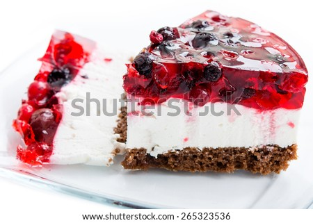 Berry cake - stock photo