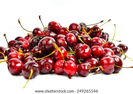 berry cherry on a white background