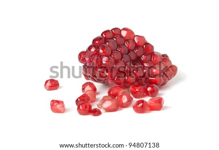 berry pomegranate. Isolated on a white background.  Clipping path. - stock photo