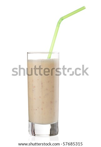 berry smoothie - stock photo