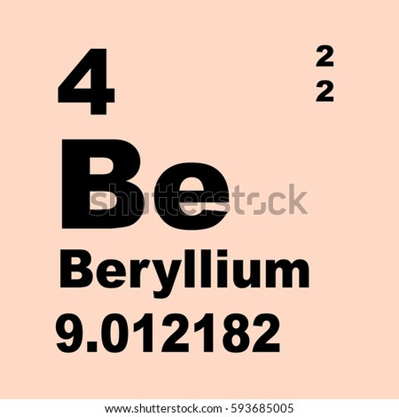 Beryllium periodic table elements stock illustration 593685005 beryllium periodic table of elements urtaz