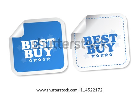 Best buy stickers - stock photo