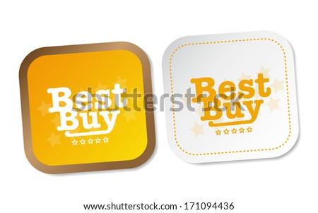 Best buy stickers - stock photo