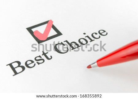 best choice check box - stock photo