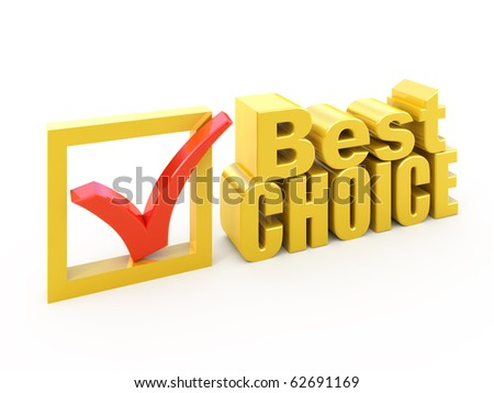 Best choice concept Check box with check mark award - stock photo