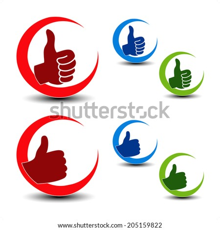 best choice icons - gesture hand - stock photo
