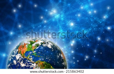 Best Internet Concept of global business from concepts series. Planet earth. (Elements of this image furnished by NASA)  - stock photo