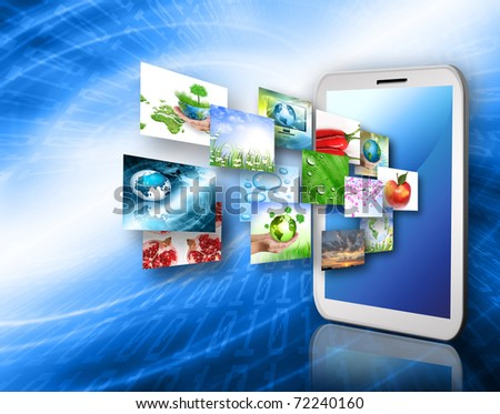 Best Internet Concept of global business from concepts series. Touchpad or Tablet PC