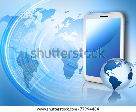 Best Internet Concept of global business from concepts series. Touchpad or Tablet PC - stock photo