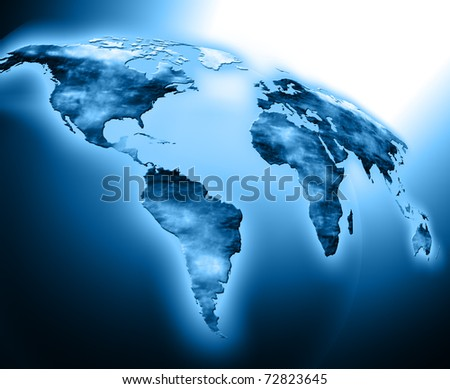 Best Internet Concept of global business from concepts series. World map - stock photo