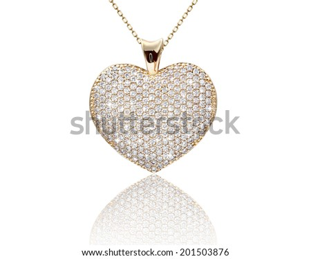 Best jewelry pendant and earrings set. Jewelry composition. Symbol of love - stock photo