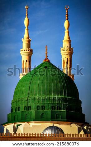 Best Minaret - location Medina Al  Munawara - Saudi Arabia 19.02.2014 - stock photo