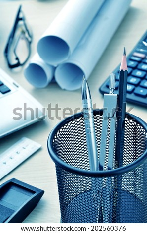 Best of Office still life. Modern business, office, design and paper work related still life picture series - stock photo
