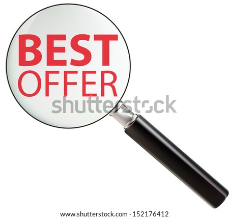 Best offer, promotional sale