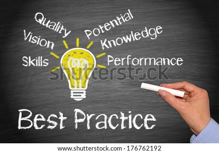Best Practice - stock photo