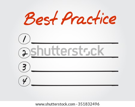 Best Practice blank list, business concept background - stock photo