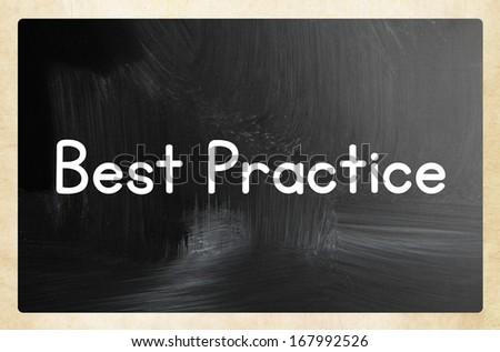 best practice concept - stock photo