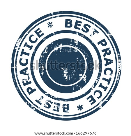 Best Practice concept stamp isolated on a white background. - stock photo