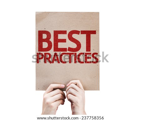Best Practices card isolated on white background - stock photo