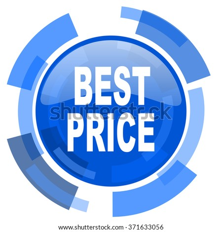 best price blue glossy circle modern web icon - stock photo
