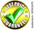Best Price button/label - golden version - stock photo
