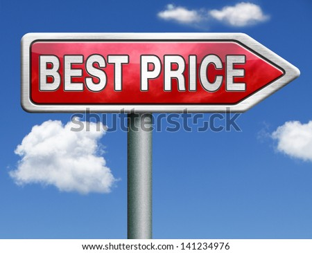 best price button low price or bargain special offer web shop icon red road sign arrow - stock photo