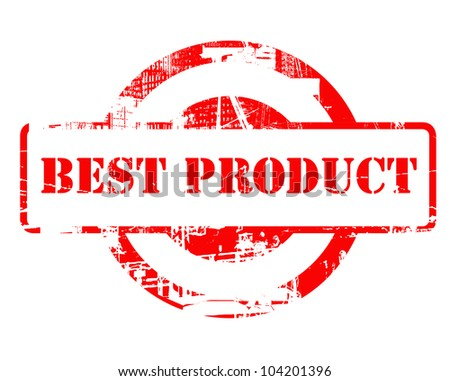 Best Product red stamp with copy space isolated on white background.
