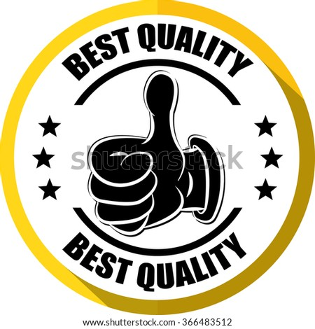 Best quality yellow, Button, label and sign. - stock photo