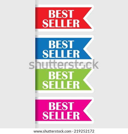 Best seller sign,icon, tag, label and sticker. Best seller award symbol. - stock photo