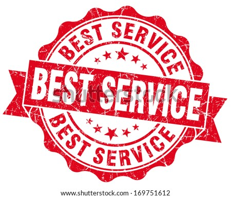 Best Service Grunge Stamp - stock photo