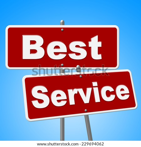 Best Service Signs Indicating Help Desk And Ideal - stock photo